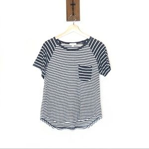 Standard James Perse striped Crewneck pocket tee